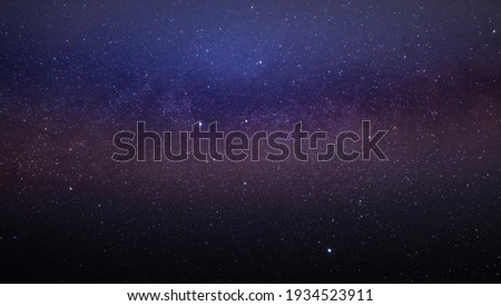 Part of the Milky Way galaxy in the night sky. Landscape of the starry night sky. Royalty-Free Stock Photo #1934523911