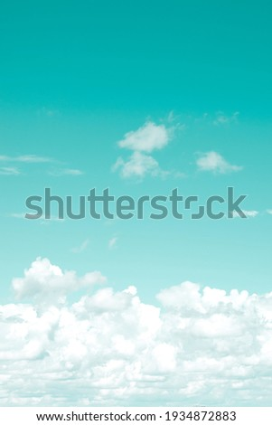 Vertical toned background with clouds far on horizon. Copy space