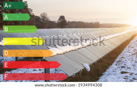 energy label efficiency through solar power system - sustainable and ecological power generation.