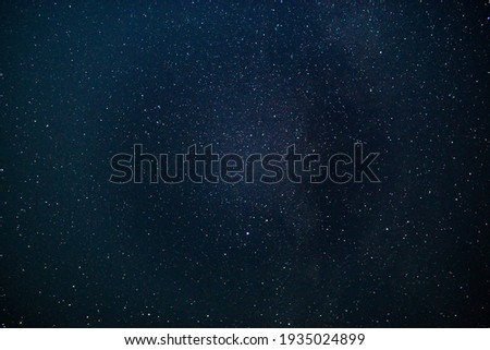 starry sky background, texture night photo with long exposure