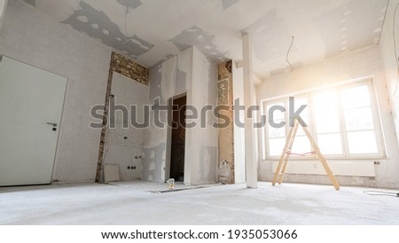 rebuilding an Old real estate apartment, prepared and ready for renovate Royalty-Free Stock Photo #1935053066
