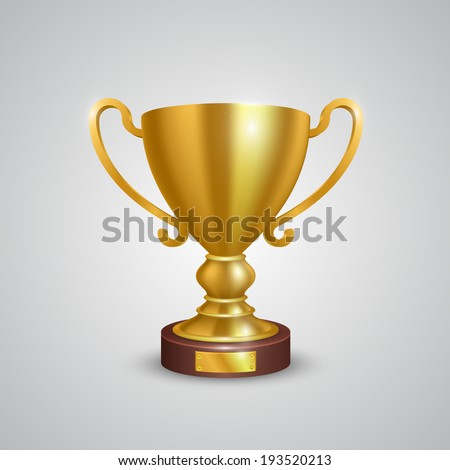 Winner cup leader sing, object on a white background, Vector illustration #193520213