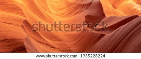 A panoramic shot of the breathtaking Antelope Canyon in Arizona, the USA Royalty-Free Stock Photo #1935228224