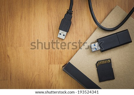 Storage device such as  SD card, usb flash drive, external hard drive, Mobile phone and note book #193524341