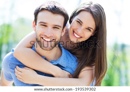 Happy young couple #193539302