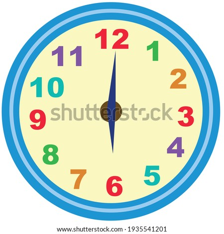 Illustration of a clock on white background