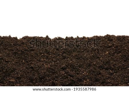 Peat moss isolaetd on white background Royalty-Free Stock Photo #1935587986