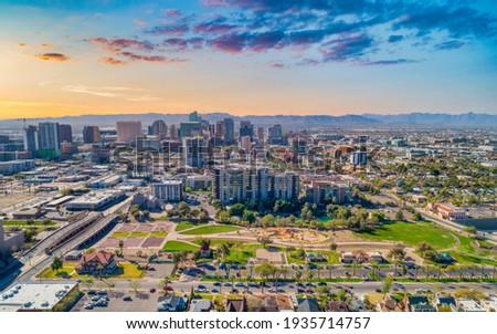 Phoenix, Arizona, USA Downtown Skyline Aerial. Royalty-Free Stock Photo #1935714757