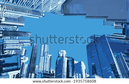 Downtown Miami cityscape view with condos and office buildings. Royalty-Free Stock Photo #1935758608