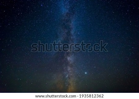 night starry sky with milky way, beautiful outdoor natural background