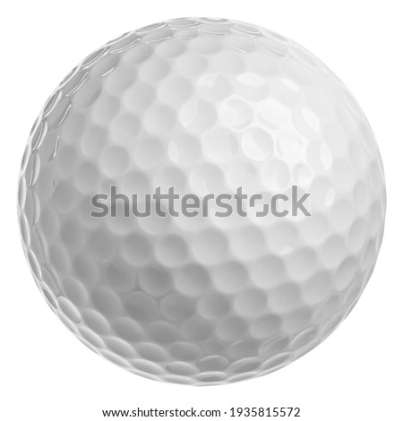 Golf ball isolated on white background, full depth of field, clipping path Royalty-Free Stock Photo #1935815572