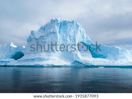 Glaciers and the icebergs of Antarctica from the very south of the Earth. Royalty-Free Stock Photo #1935877093