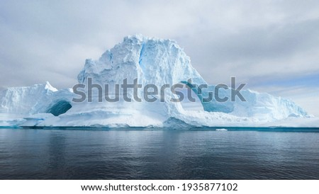 Glaciers and the icebergs of Antarctica from the very south of the Earth. Royalty-Free Stock Photo #1935877102