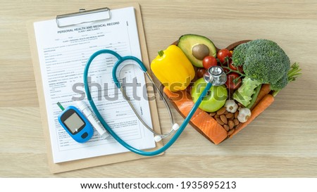 Keto food for ketogenic diet, healthy nutritional food eating lifestyle for good heart health with high protein, fat, low-carb to prevent heart disease and diabetes illness control Royalty-Free Stock Photo #1935895213