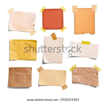 close up of a note paper on white background Royalty-Free Stock Photo #1936254283