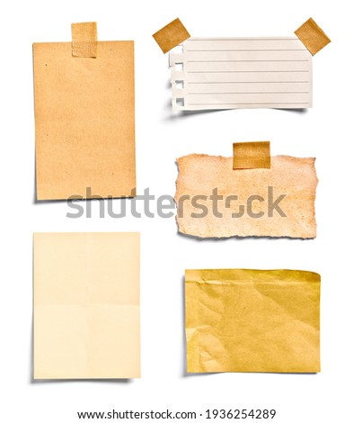 close up of a note paper on white background Royalty-Free Stock Photo #1936254289