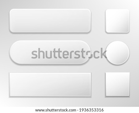 Set of various gray glossy web buttons.Vector illustration isolated on white background.Eps 10. Royalty-Free Stock Photo #1936353316
