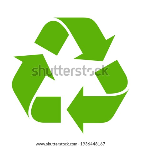Recycle symbol on white background Royalty-Free Stock Photo #1936448167