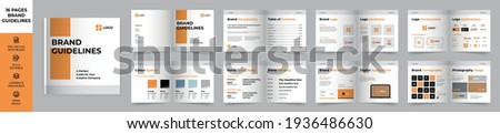 Square Brand Manual Template, Simple style and modern layout Brand Book, Brand Identity, Brand Guideline, Guide Book Royalty-Free Stock Photo #1936486630