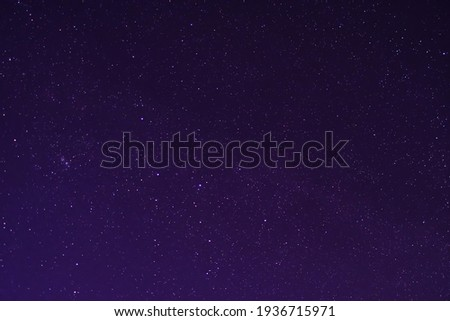 Nigth sky full of stars.