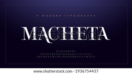 Elegant alphabet letters font and number. Classic Lettering Minimal Fashion Design. Typography modern serif fonts decorative vintage concept. vector illustration Royalty-Free Stock Photo #1936754437