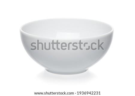 Empty white bowl isolated on white background Royalty-Free Stock Photo #1936942231