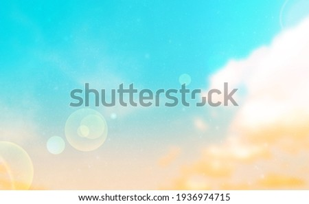 Summer Holiday Concept: Abstract Blurred Light Beach with Autumn Sky Sky Background Royalty-Free Stock Photo #1936974715