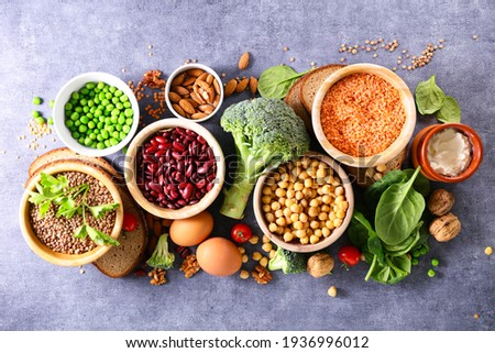 assorted of protein food source