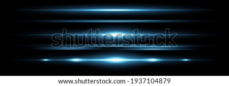Red horizontal lens flares pack. Laser beams, horizontal light rays.Beautiful light flares. Glowing streaks on dark background. Luminous abstract sparkling lined background. Royalty-Free Stock Photo #1937104879