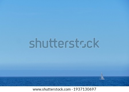 Photo Picture Image of a sail boat sailboat in the Ocean