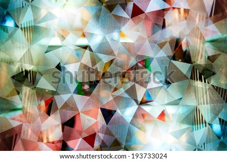 Abstract mosaic : night pattern style