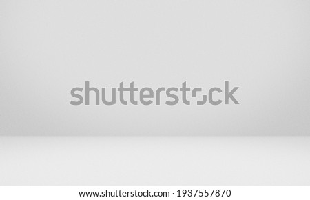 Empty white gray color texture pattern cement wall studio background. Used for presenting cosmetic nature products for sale online.