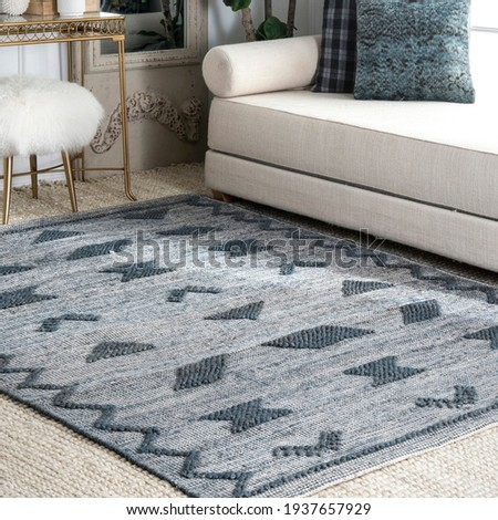 These rugs are best to be decorate Under sofas and tables. Royalty-Free Stock Photo #1937657929