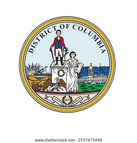 Seal of Washington, D.C. Seal of Washington Logo Vector, Seal of the District of Columbia logo Royalty-Free Stock Photo #1937671696