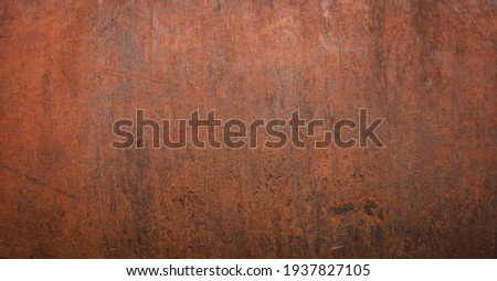 Grunge rusted metal texture, rust, and oxidized metal background. Old metal iron panel Royalty-Free Stock Photo #1937827105