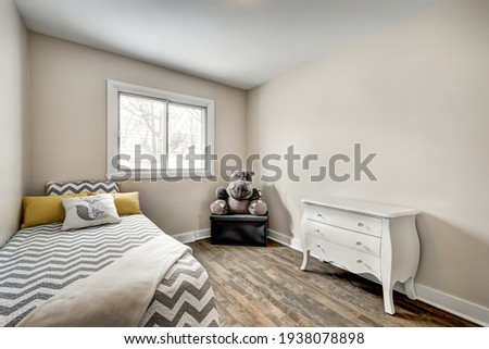 Luxury Canadian House Completely Renovated, Furnished and Staged with Basement, Deck, Backyard and Garage for Sale Royalty-Free Stock Photo #1938078898