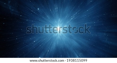 Star Trek. Space travel at the speed of light. Abstract background. Elements of this image furnished by NASA. Royalty-Free Stock Photo #1938115099