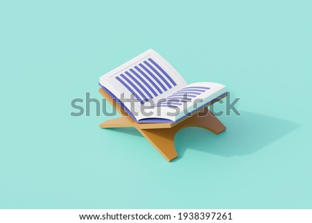 quran books open for islamic religion. 3d render illustration result