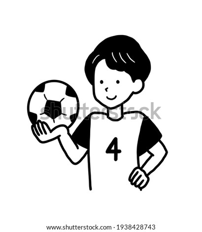 Clip art of college student in soccer team.