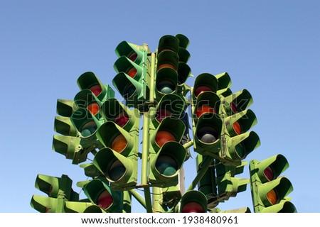 Lots of traffic lights. Street creativity.