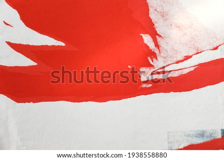 Different creased torn paper posters as background Royalty-Free Stock Photo #1938558880