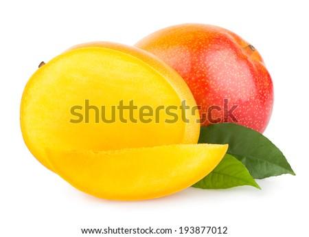 mango fruit isolated on white background #193877012