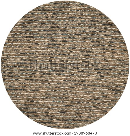 Handmade Braided Natural Fiber Jute Multi Area Rug. Royalty-Free Stock Photo #1938968470