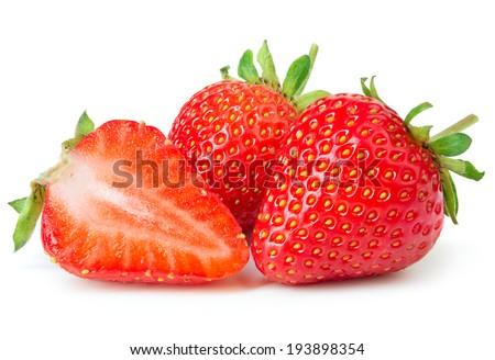 Strawberries on white background #193898354
