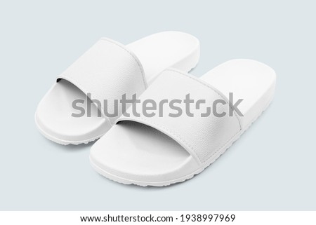 White sandals summer footwear fashion Royalty-Free Stock Photo #1938997969