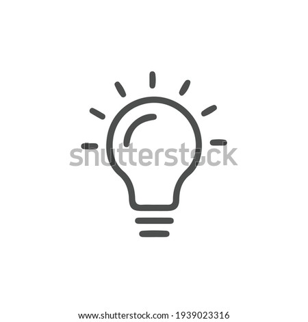 Bulb light vector icon. Lighting Electric lamp. Electricity, shine. Light Bulb icon vector, isolated on background. Bulb light icon - Idea sign, solution. Bulb light symbol Energy Royalty-Free Stock Photo #1939023316