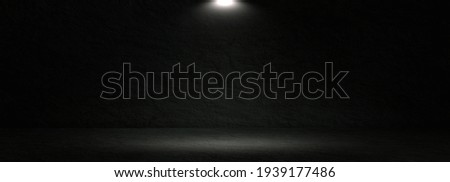 Dark abstract stone wall and studio room,interior texture for display products,wall background. Royalty-Free Stock Photo #1939177486