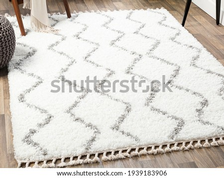 Handmade Wool Runner Area Rug. Royalty-Free Stock Photo #1939183906