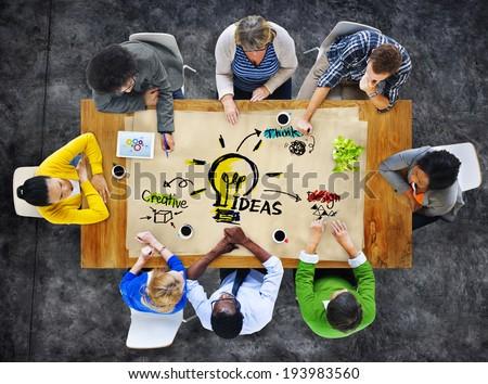 Multi-Ethnic Group of People Planning Ideas #193983560