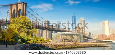 The Brooklyn Bridge, New York City.